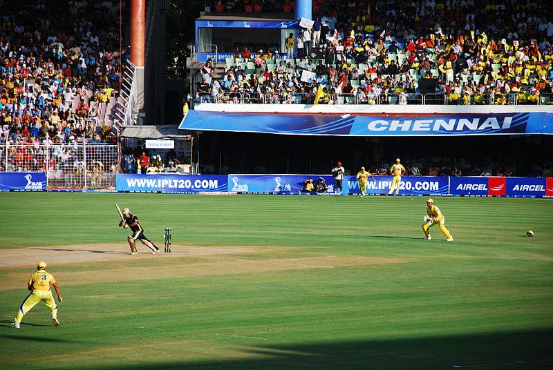 KKR vs CSK - Kolkata team vs Chennai team - in 2012 at IPL final
